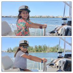 Sisters Take the Helm Vero Beach Florida, Florida Beaches, Indian River Lagoon, Sailing Catamaran, Welcome Aboard, Captain Hat, Sisters, Daughters, Big Sisters