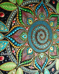Acrylic Mandala dot painting on canvas Mandala Canvas, Mandala Artwork, Mandala Dots, Mandala Painting, Mandala Pattern, Dot Art Painting, Painting Patterns, Aboriginal Dot Painting, Mandala Design