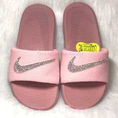 ef122b9918ed Nike Slide Kids Rust Pink - Custom Nike Slides - Bedazzled Nikes - Bling  Sandals - Swarovski Nike - Custom Slides - SparkleMeBaby2u