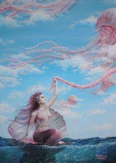 Mermaid dreams of Giant Jellyfish: