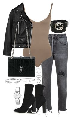"""""""Untitled #2959"""" by theeuropeancloset ❤ liked on Polyvore featuring RE/DONE, WearAll, Acne Studios, Yves Saint Laurent, Maria Francesca Pepe, Vita Fede and Gucci"""