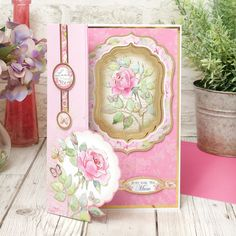 Hunkydory A Rosy Posy Florals Deco Large Decoupage Card Kit P/&P Discount