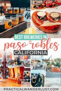 The best Paso Robles breweries to try barrel-aged sours and stouts and refreshing California IPAs. Plus, the best Paso Robles distilleries & restaurants to round out a weekend getaway! Distillery, Brewery, Travel Usa, Travel Tips, Travel Abroad, Time Travel, Travel Guides, Travel Destinations, Paso Robles Inn