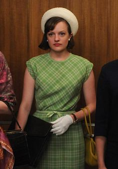 Elisabeth Moss' Best On and Off-Screen Style Moments - Mad Men Season 5 from #InStyle