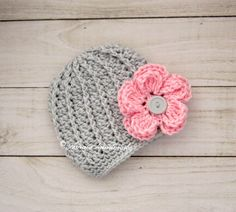 Baby girl hat, baby hat, crochet baby hat, newborn girl hat, girl hat, crochet girl hat, infant girl hat, crochet infant hat, by Amaiahandmade on Etsy