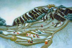 """Virginie Rapiat illustration for """"la tisseuse de nuages""""."""