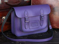 View our Women Classic Purple Leather Satchel 13 Inch from the Women Coloured Satchels collection