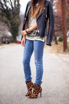 40+ Outfits You Must Try. Leopard Ankle BootsJeans ... 453b1929b3