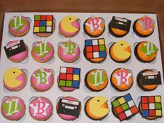 80s Birthday Cupcakes - I made these for the daughter of friend who was turning 11 and wanted an 80s-themed party.  They were a lot of fun!