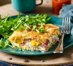 Super easy Bacon and egg pie