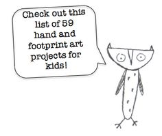 59 hand & foot print art projects