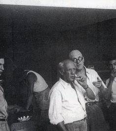 Le Corbusier with Pablo Picasso