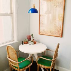 dining area | small | clean | nook | small spaces | small dining room | green