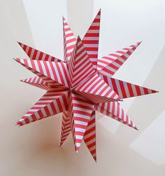 Much easier to make than it looks! Fabulous paper star with twenty points - it also works great as a top star for your Christmas tree. Go to my blog for PDF and instructions.