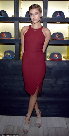 Guess she's not a fan: Hailey Baldwin seemed to put any team loyalties aside when she showed up to the New Era Style Lounge on Friday evening in San Francisco