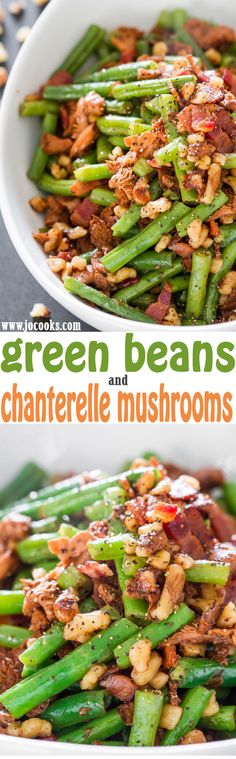 Green Beans and Chanterelle Mushrooms