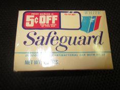 VINTAGE SAFEGUARD white DEODORANT SOAP w/ RD 50 complexion size Procter & Gamble Co 3.5 oz