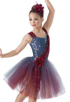 Weissman™   Sequin Two Tone Drape Skirt Dress