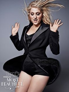 "Countdown to the World's Most Beautiful! 10 Days of Beauties | MEGHAN TRAINOR | After the major success of her 2014 hit, ""All About That Bass,"" the 21-year-old singer has been unstoppable. Despite her initial insecurities about not looking ""like Rihanna"", Trainor has established herself as a pop force to be reckoned with – and a totally gorgeous one at that."