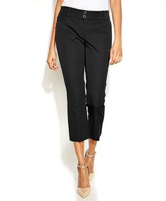 Alfani Petite Cropped Straight-Leg Pants
