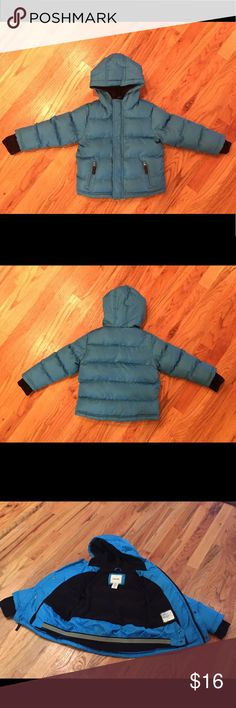 Boys 3T Cherokee Puffer Coat Super soft inside and extra cozy. Has thumb holes in sleeves for warm hands. All zippers and buttons work perfectly. Great condition overall. Does have a little bit of wear on one sleeve as shown. There are a couple small spots that you really have to look for to see. They have not been treated, so may come out. I've circled them in the photos. I do my best to find and disclose any damage, but please note this is a preloved item. 💕 Cherokee Jackets & Coats…