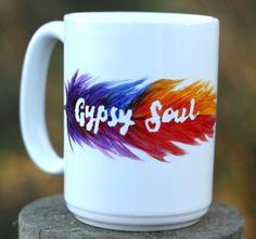 Gypsy Soul Mug Inspirational Mug  Mug Gift for by ABitCuckooGifts*** This is cool looking too.