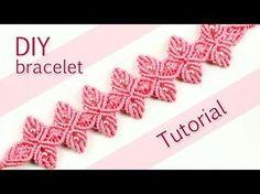 """Videoanleitung für das """"Macramé Flower Petal Bracelet"""" von Macrame School auf YouTube"""