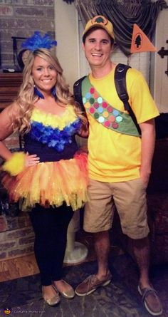 Couples Halloween costume idea: Russell & Kevin from Up Homemade Costume Halloween Cartoons, Disney Halloween, Best Diy Halloween Costumes, Halloween Costume Contest, Homemade Costumes, Halloween Couples, Halloween Party, Homemade Halloween, Halloween 2019
