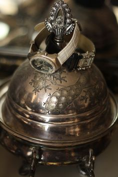re-purpose your silver butter dish as a little jewelry box