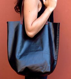 Recycled Leather Tote Bag | Women's Bags & Accessories | Thread & Paper | Scoutmob Shoppe | Product Detail