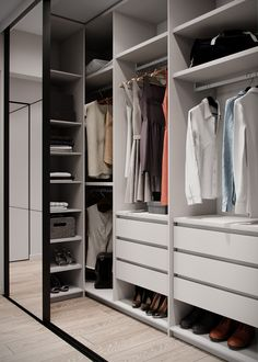 Diy Walk In Closet, Walk In Closet Design, Bedroom Closet Design, Master Bedroom Design, Diy Bedroom Decor, Wardrobe Interior Design, Wardrobe Door Designs, Closet Designs, Garderobe Design