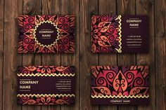 Mandala pattern business card 01 - Business Cards