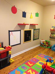 Playroom #colorful playroom #playroom storage #