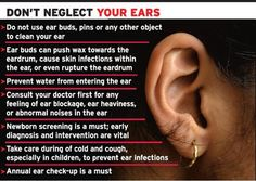 Ear infection could lead to hearing loss