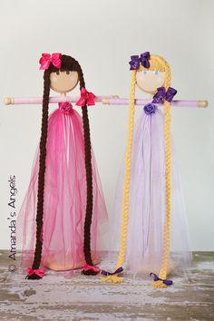 My Princess Rapunzel Purple Tutu Hair Bow Holder by AmandasAngels,