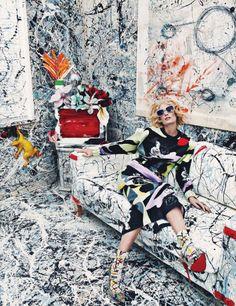 Abstraction-Vogue Germany January 2014 with Drake Burnett by Sebastian Kim and Katie Mossman.