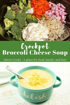 This crockpot broccoli cheese soup is so easy and delicious. With just 10 minutes of prep time, you can come home to a flavorful and comforting cheese and broccoli soup.