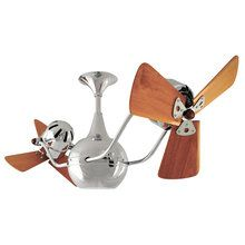 "View the Matthews Fan Company VB-WD 42"" Handmade Vent-Bettina Dual Rotational Ceiling Fan with High Gauge Steel Construction and Mahogany Wood Blades at LightingDirect.com."