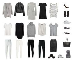 """""""Monochrome Capsule Wardrobe"""" by emmajoy on Polyvore featuring Acne Studios, STELLA McCARTNEY, Comme des Garçons Homme, The Row, French Connection, Marella, Zara, Christian Dior, Christian Louboutin and N.Y.L.A."""