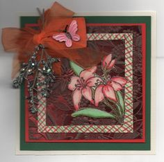 Autumn Lilies from Sparkle n Sprinkle Design by Joan Petty UK