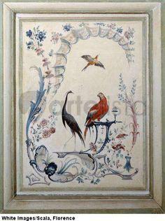 huet oiseaux panneau du grand salon du chateau de champs sur chateau