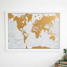 Scratch The World® Map Print With Coin   Gifts For Friends