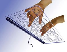 "Glass Keyboard  Futuristic ""no-key"" keyboard concept designed by Kong Fanwen"