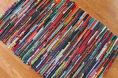 Items similar to Upcycled T Shirt Rag Rug Autumn Brights Red Orange Green Navy Teal Modern Country Rustic Rectangle on Etsy Modern Country, Country Style, Diy Blankets No Sew, Homemade T Shirts, Shades Of Burgundy, Dark Shades, Rag Rug Tutorial, Braided Rag Rugs, Fall Color Palette