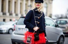 from NY Magazine - Paris Street Style Zhanna Romashka - The Cut