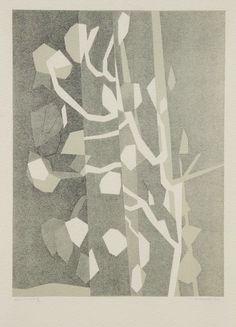 kafkasapartment: Arbre, 1964. André Beaudin. Lithograph