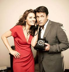 True (Co-Star) Love: Stana Katic and Nathan Fillion (PHOTOS)