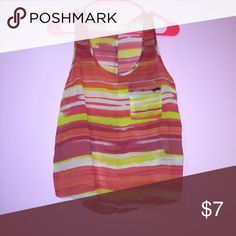 Sheer Sunset Tank Real pocket! Perfect for summer. Also works great as a beach coverup Forever 21 Tops Tank Tops