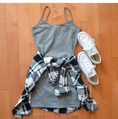 dress gray short dress fashion cool pretty