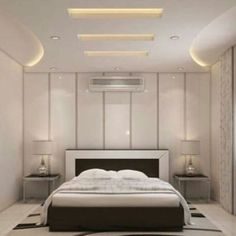 Simple and Crazy Tricks Can Change Your Life: False Ceiling With Fan Interior Design false ceiling living room with tv unit.False Ceiling Wedding Chandeliers false ceiling design for showroom. Fall Ceiling Designs Bedroom, Bedroom False Ceiling Design, Bedroom Bed Design, Bedroom Furniture Design, Bedroom Ceiling, Master Bedroom, Simple False Ceiling Design, Gypsum Ceiling Design, House Ceiling Design